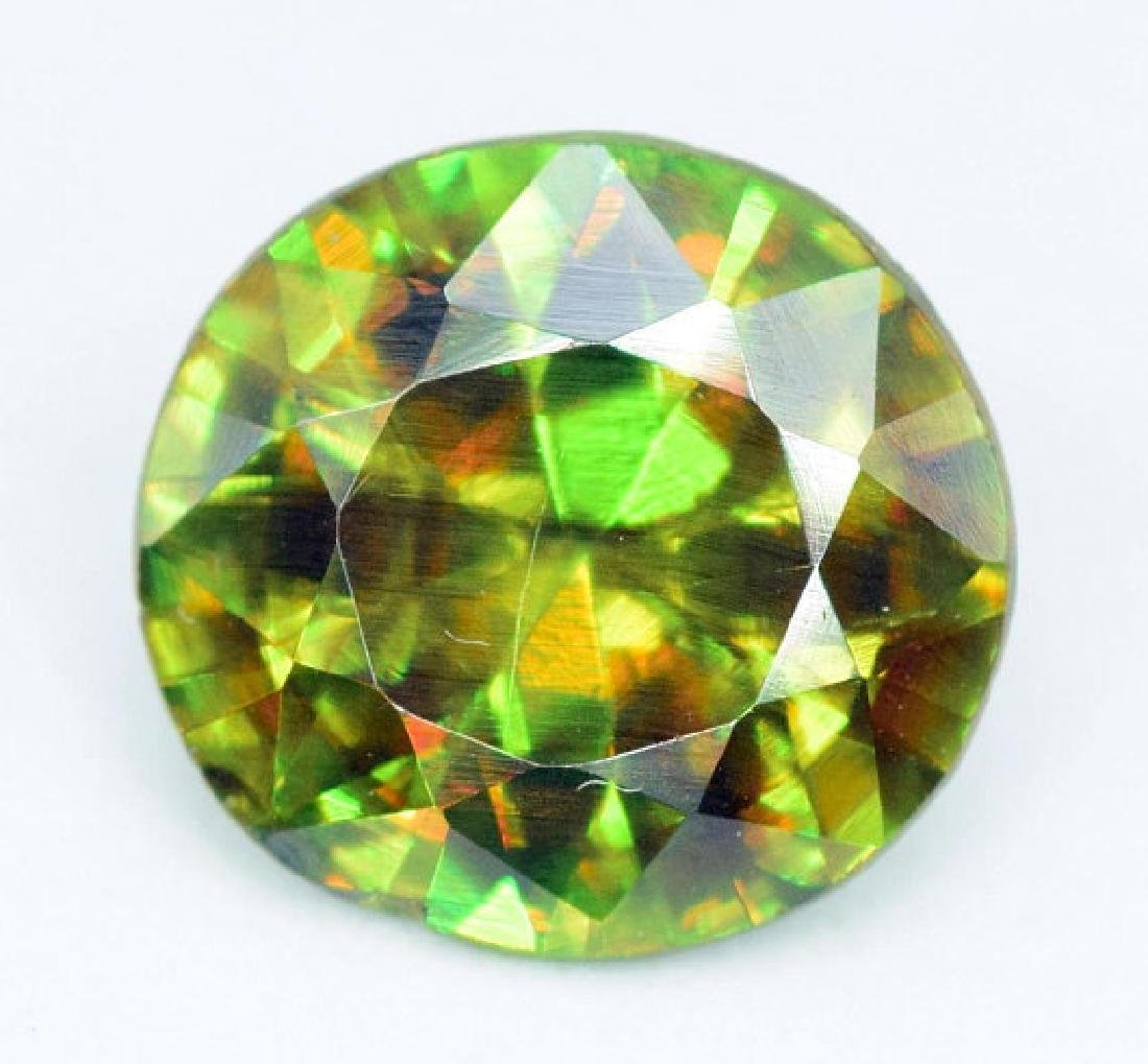 1.95 carats AAA Color Full Fire Natural Chrome Sphene - 4