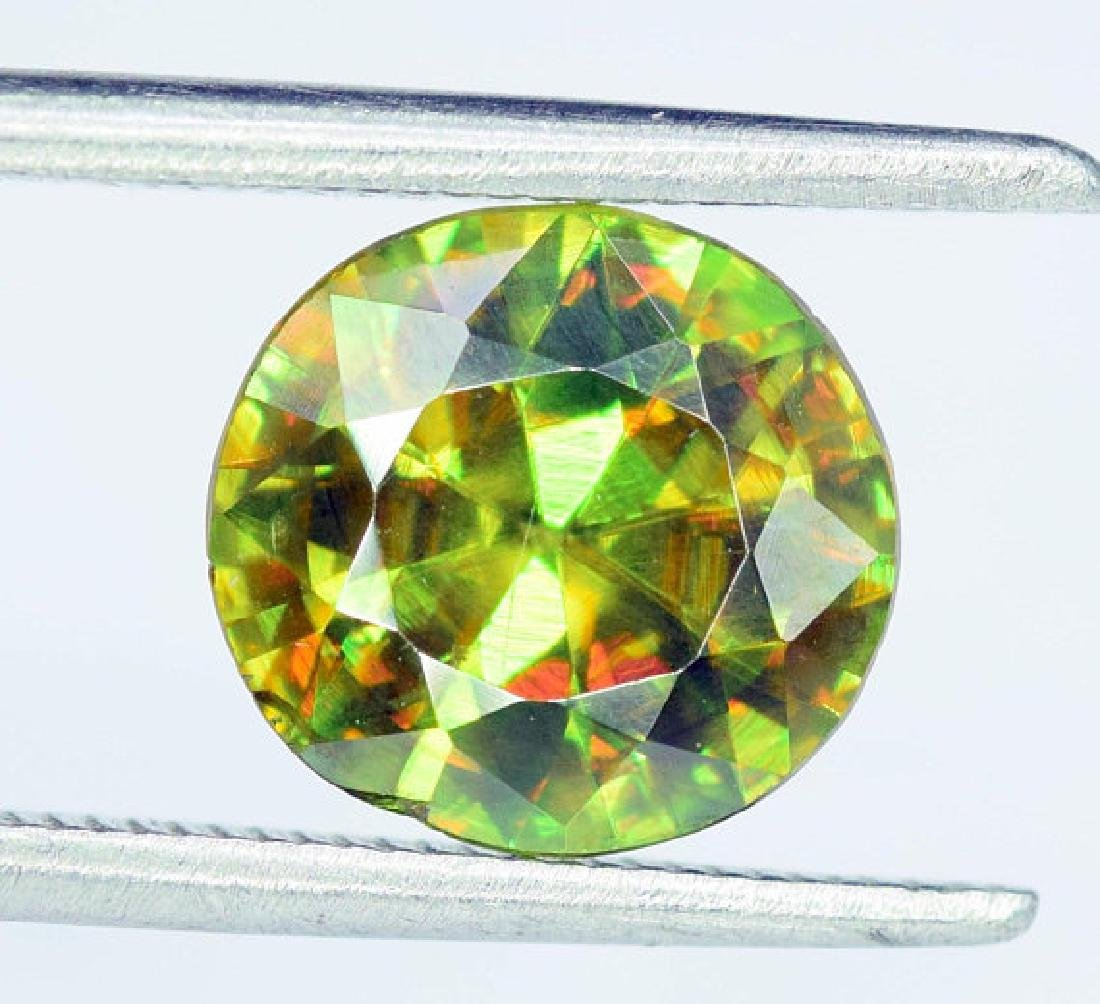 1.95 carats AAA Color Full Fire Natural Chrome Sphene - 5