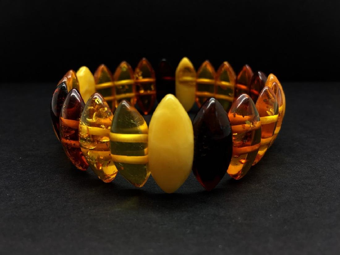 Natural Baltic Amber bracelet mix colour beads, weight: - 2