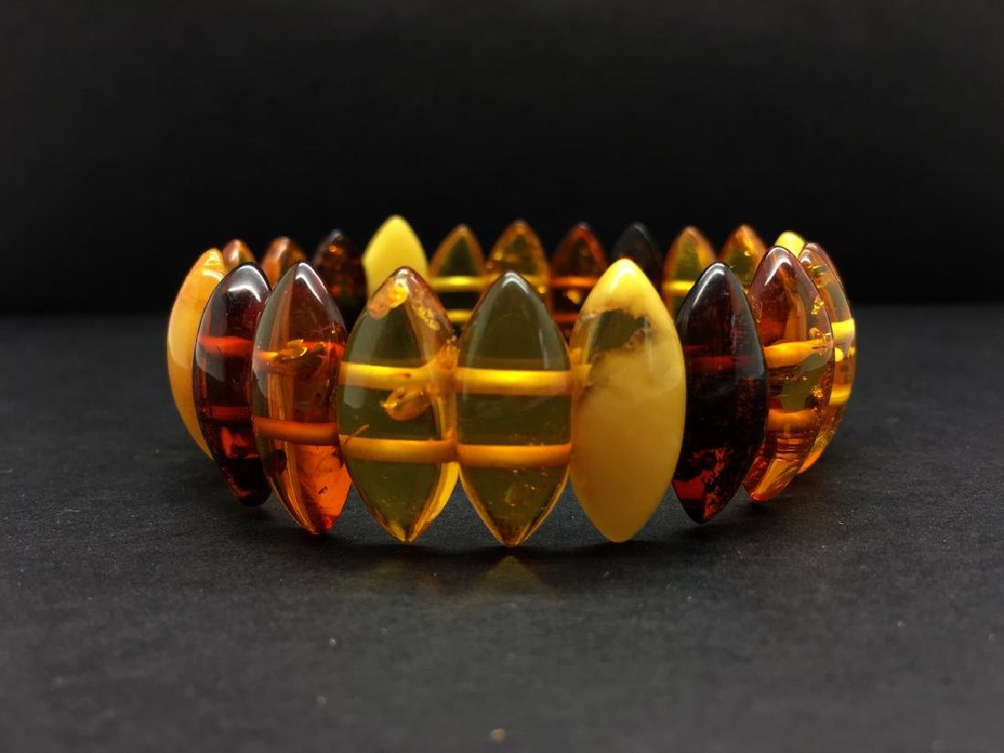 Natural Baltic Amber bracelet mix colour beads, weight: - 4