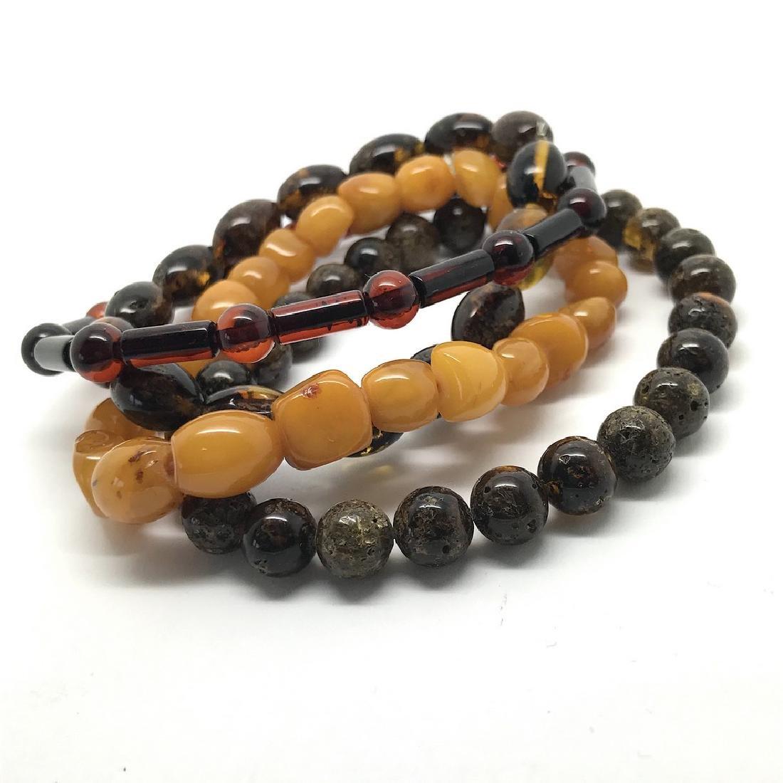 Baltic amber 4x bracelets various colours beads 25 gr - 2