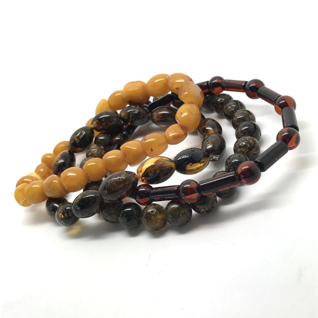 Baltic amber 4x bracelets various colours beads 25 gr - 3