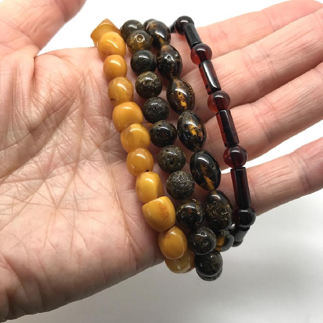 Baltic amber 4x bracelets various colours beads 25 gr - 4