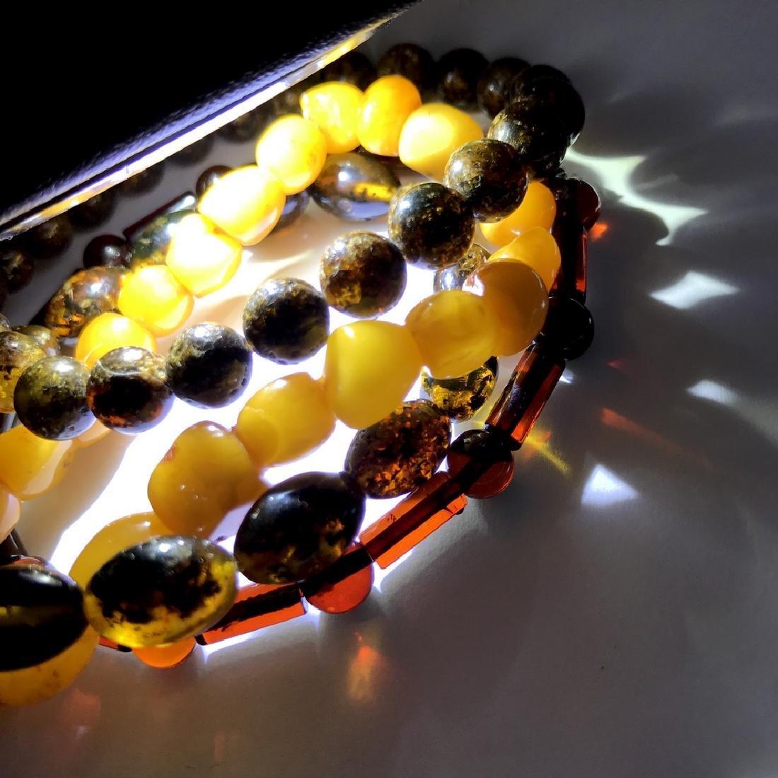 Baltic amber 4x bracelets various colours beads 25 gr - 6