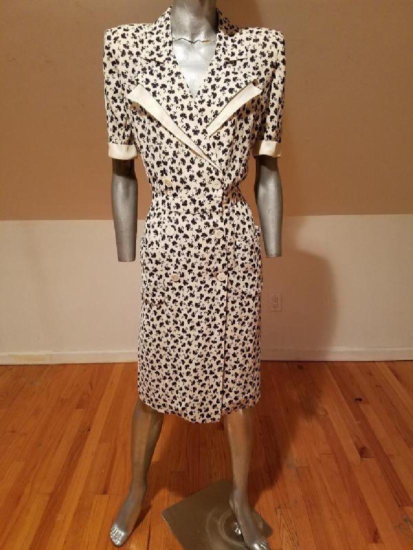 VALENTINO vintage silk shirt wrap dress - 2