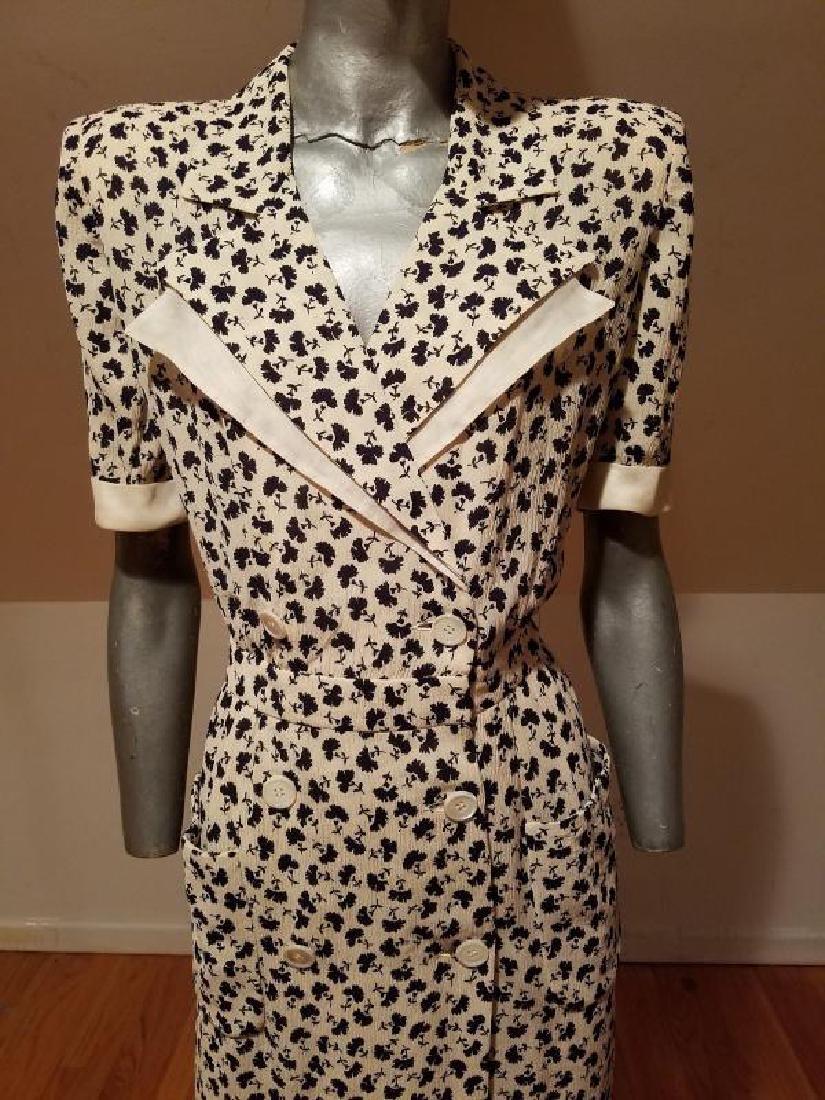 VALENTINO vintage silk shirt wrap dress - 3