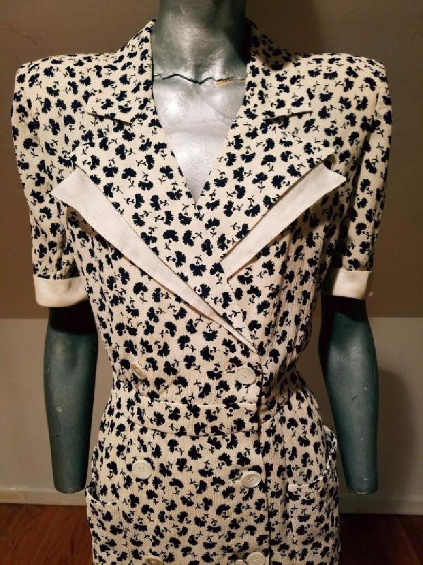VALENTINO vintage silk shirt wrap dress - 4