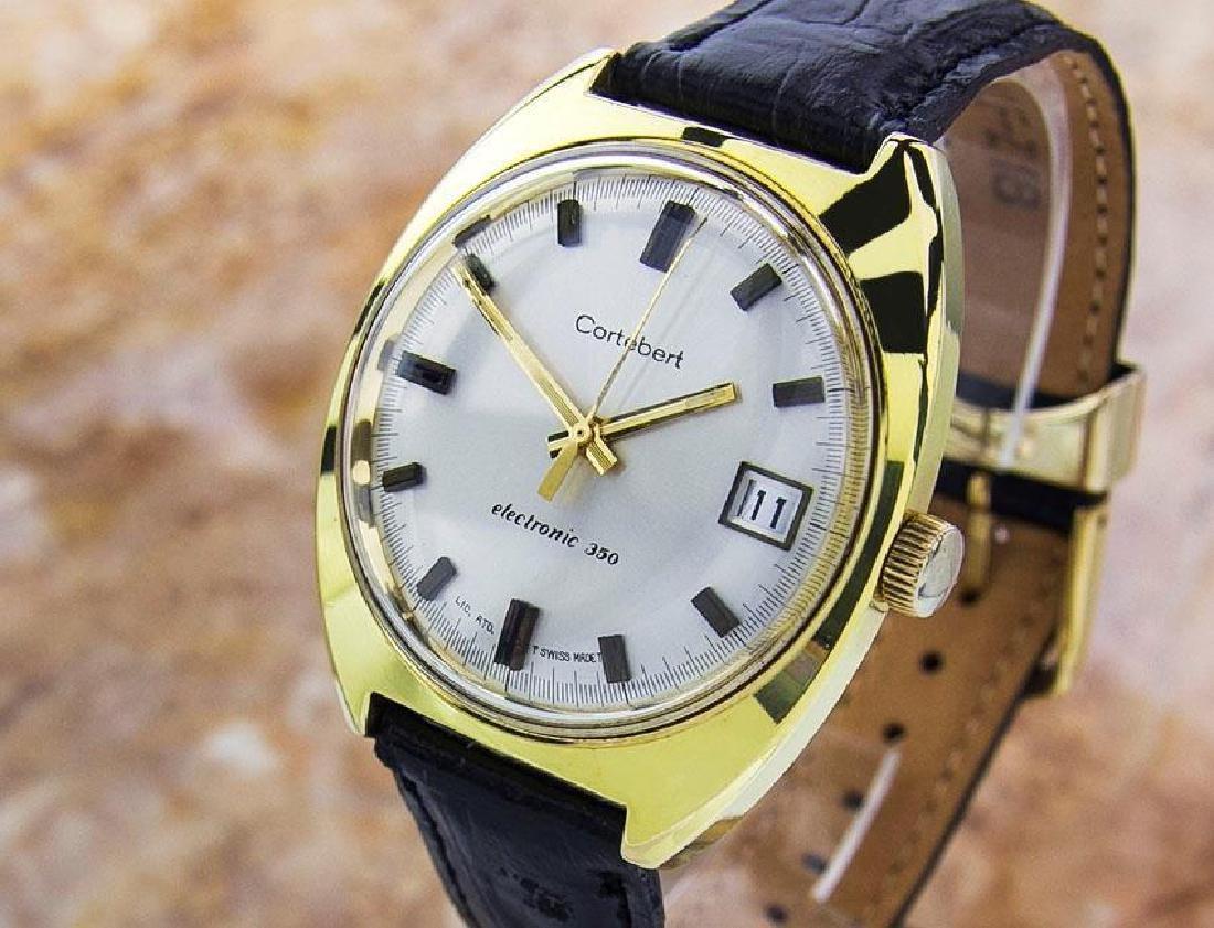 Cortebert 350 Electronic Mens Rare Swiss Made Vintage