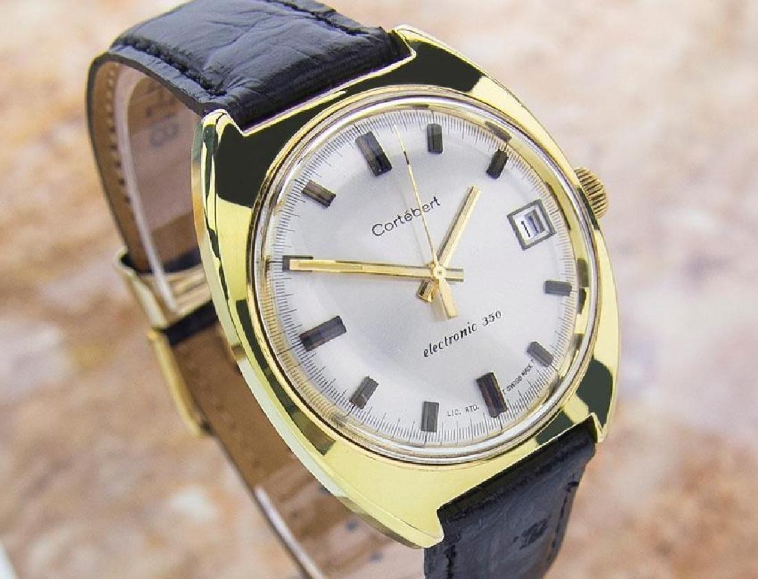 Cortebert 350 Electronic Mens Rare Swiss Made Vintage - 2