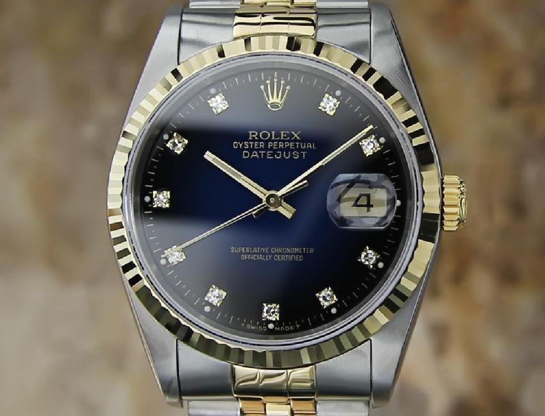 Rolex Ref 16233 Men's 18K Gold SS Diamond Watch 36mm
