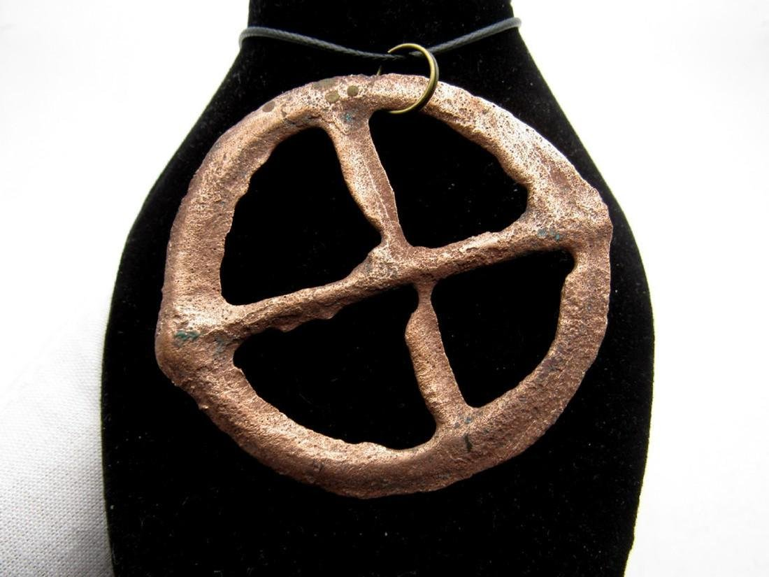 Ancient Bronze Age Sun Amulet