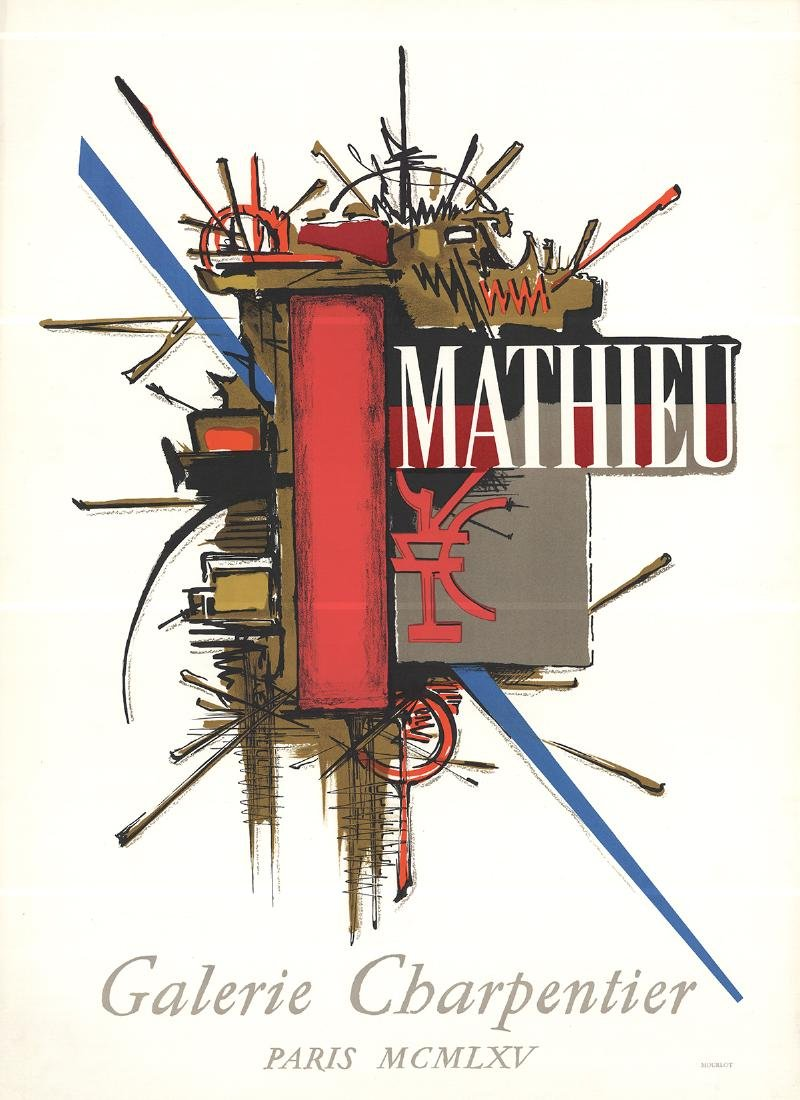 Georges Mathieu Lithograph Galerie Charpentier