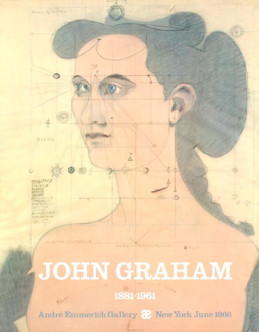 John Graham Offset Lithograph Andre Emmerich Gallery