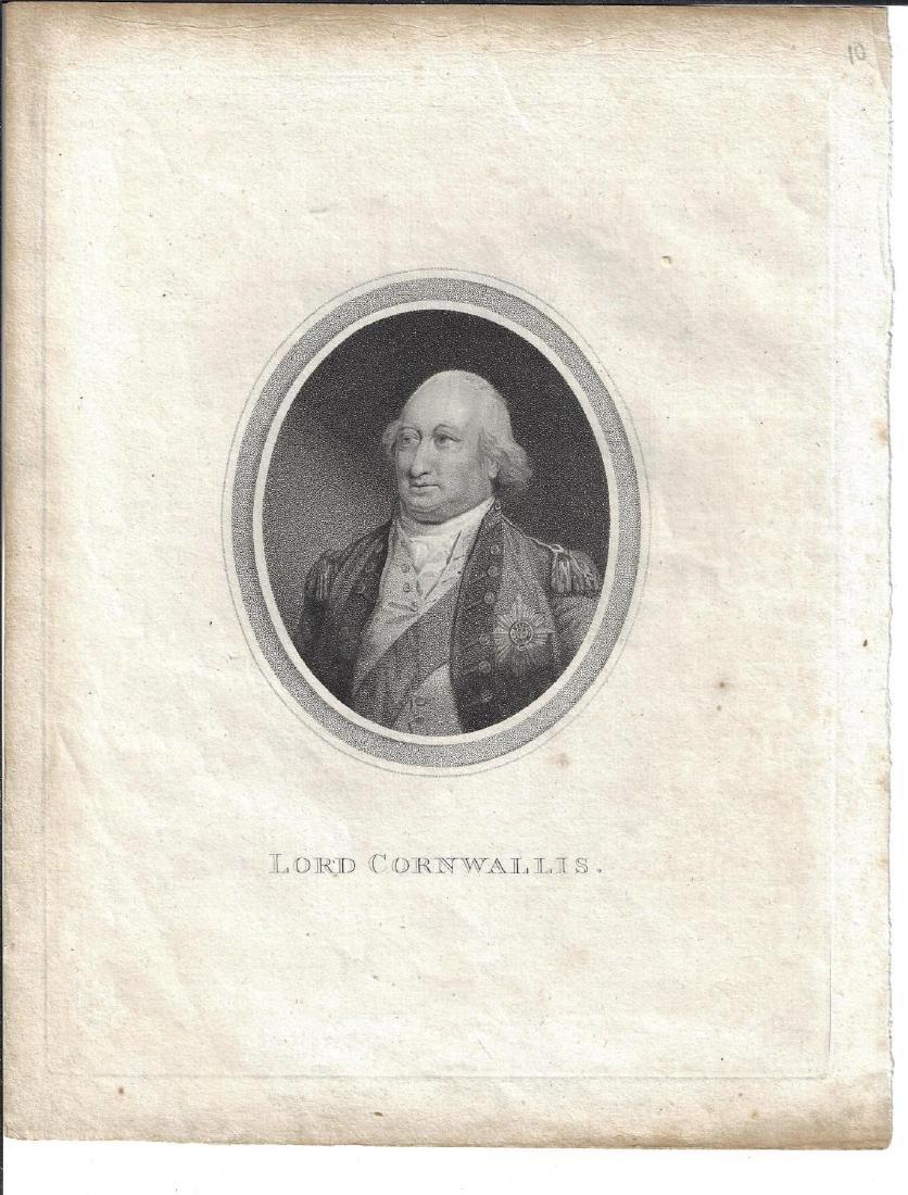 18th C Engraving Lord Cornwallis