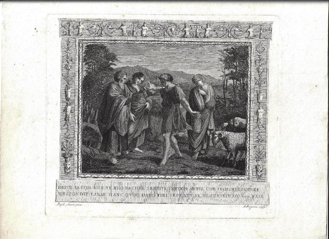 18th C Engraving after Raphael by Ragona