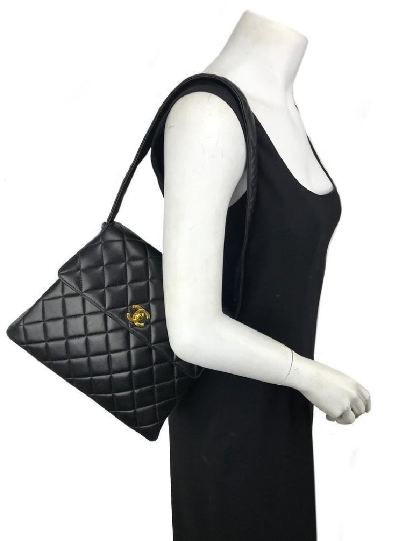 Chanel Vintage Quilted Leather Side Flaps Shoulder Bag - 2