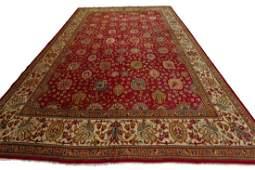 Cranberry Antique Tabriz Rug Persian Rare Signed 11x15