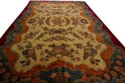 Persian Kashan Rug Fine Signed Rare Carpet Gold 10x14