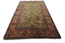 Fine Antique Persian Farahan Rug Green 5x7