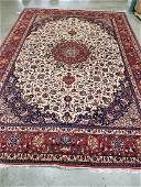 Persian Isfahan Wool Hand Knotted Silk Rug 8.9x12.9