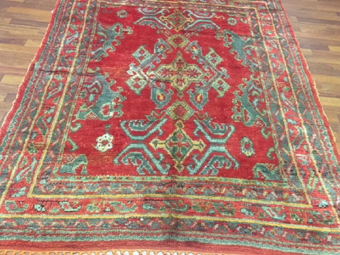 Antique Turkish Ushak Rug 5x6.5