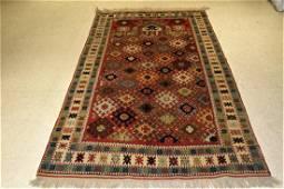 Vintage Turkish Rug 6.11x4.7
