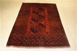 Vintage Afghan Rug 6.5x4.3