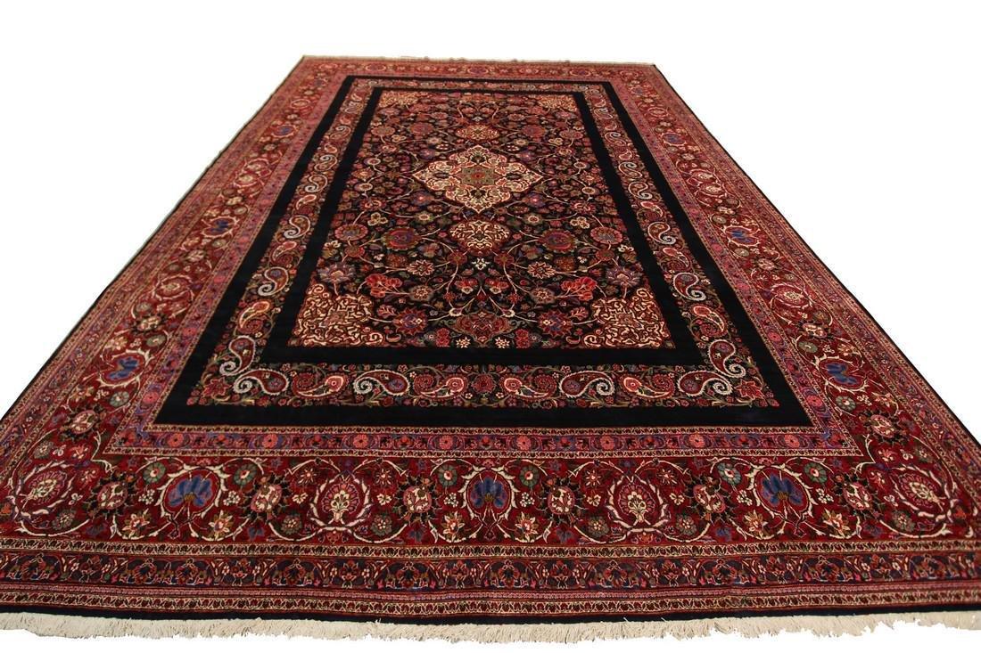 Rare Antique Dabir Kashan Persian Fine Kork Rug 10x14