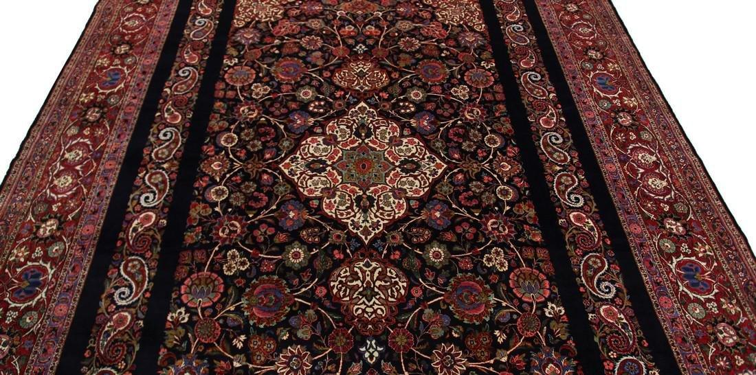 Rare Antique Dabir Kashan Persian Fine Kork Rug 10x14 - 3