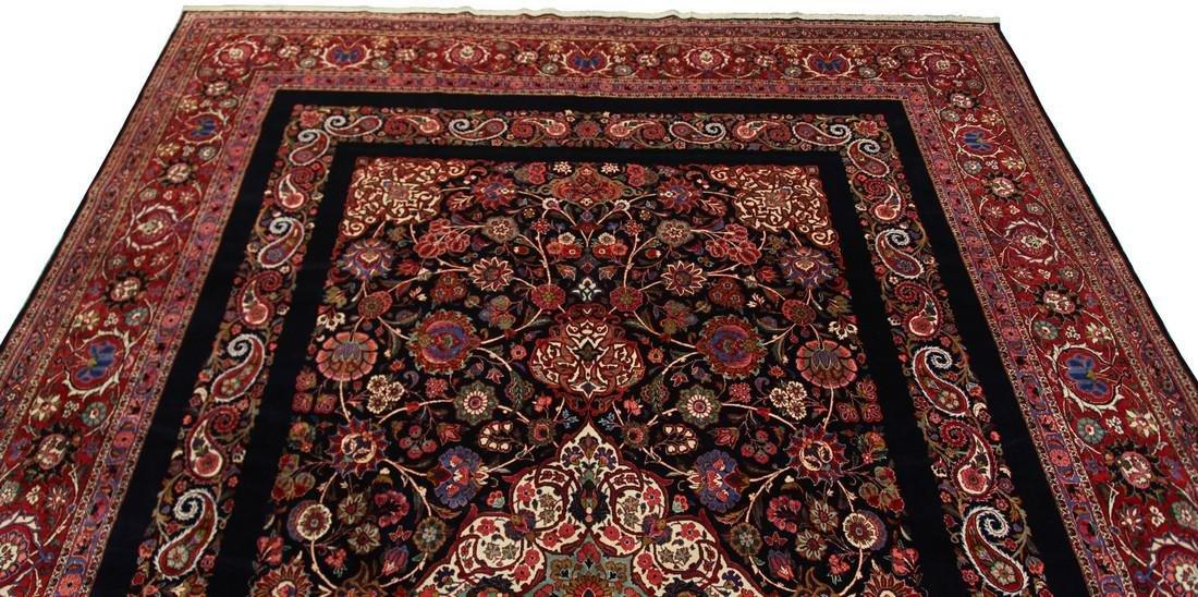 Rare Antique Dabir Kashan Persian Fine Kork Rug 10x14 - 4