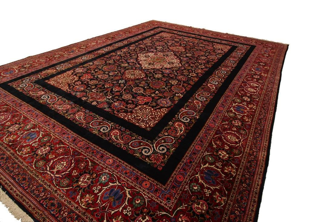 Rare Antique Dabir Kashan Persian Fine Kork Rug 10x14 - 5