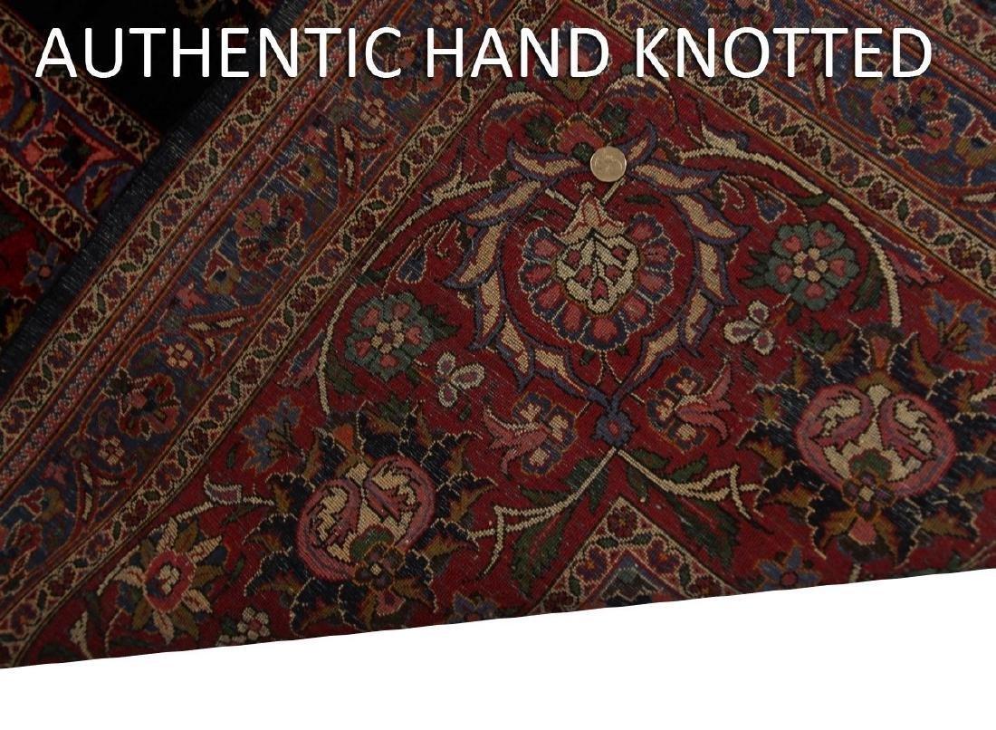 Rare Antique Dabir Kashan Persian Fine Kork Rug 10x14 - 8