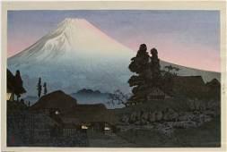 Takahashi Shotei Woodblock Fuji from Mizukubo