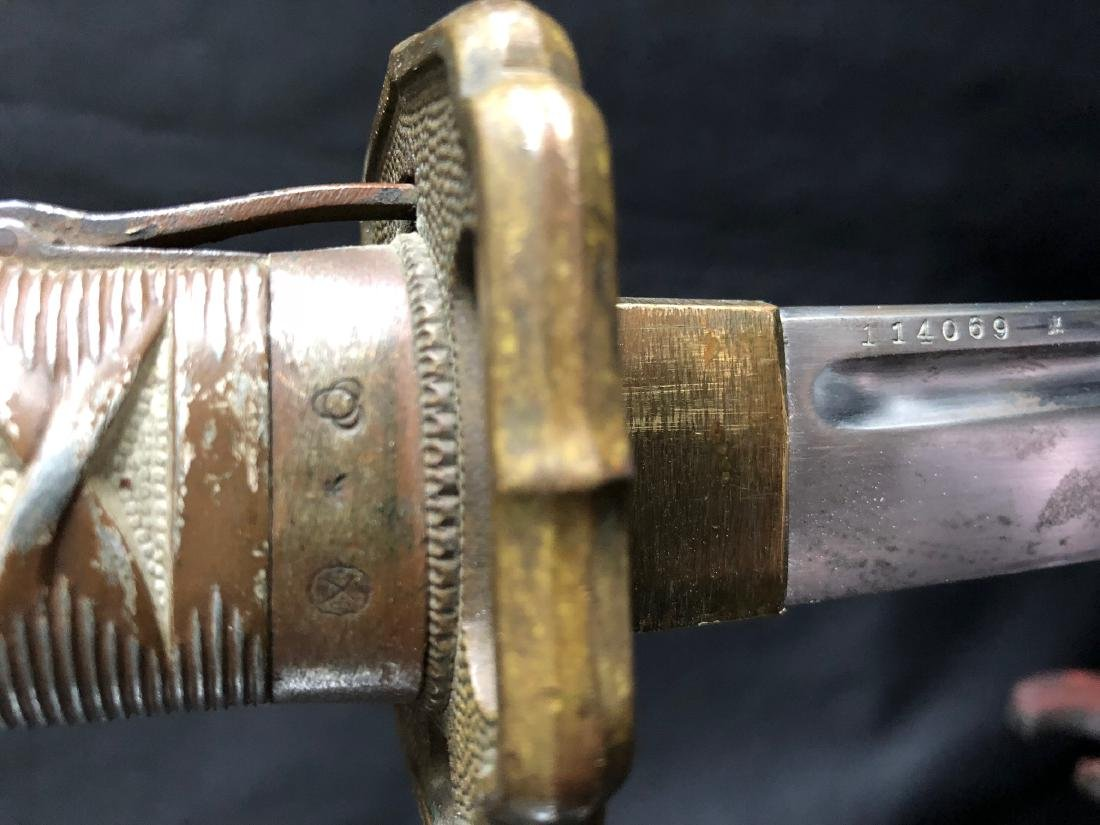 Japanese second world war type nco sword - 4