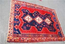 Antique Afghan Tribal Kazak Carpet 7.3x5.5