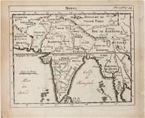 1750 Fils Map Iran, India to Thailand -- Mogul