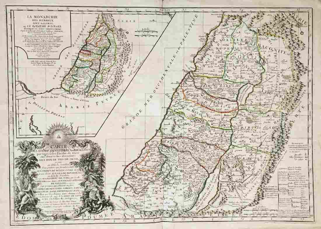 de Vaugondy / Fortin: Land of the Israelites