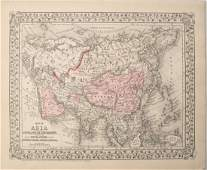 1879 Mitchell Map of Asia [verso] Middle East-- Map of