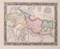 1860 Mitchell Map of Turkey, Persia, Afghanistan -- Map