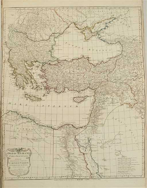 1764 D Anville Map Of Eastern Roman Empire From Black