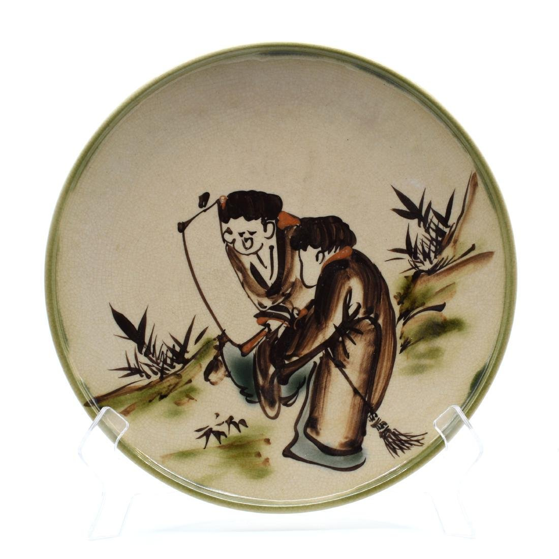 (2) Antique Porcelain Japanese Swatow Styled Plates - 5
