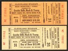 Unused Pair of 1974 Crosby Stills Nash & Young Tickets