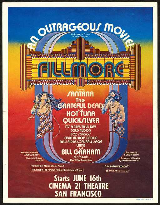 elusive fillmore the movie handbill