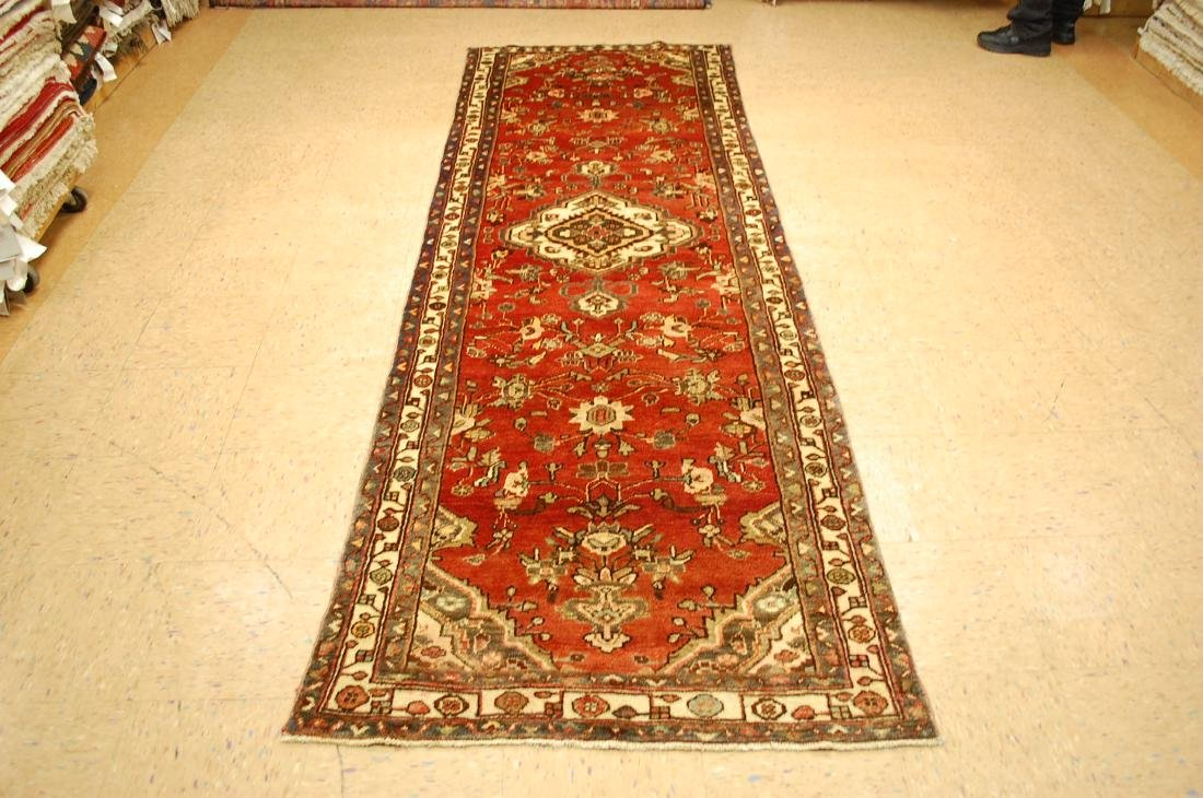 Antique Detailed Design Persian Malayer Rug 3.4x10.4