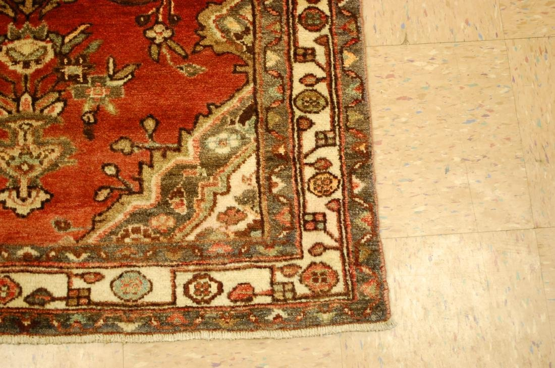 Antique Detailed Design Persian Malayer Rug 3.4x10.4 - 2