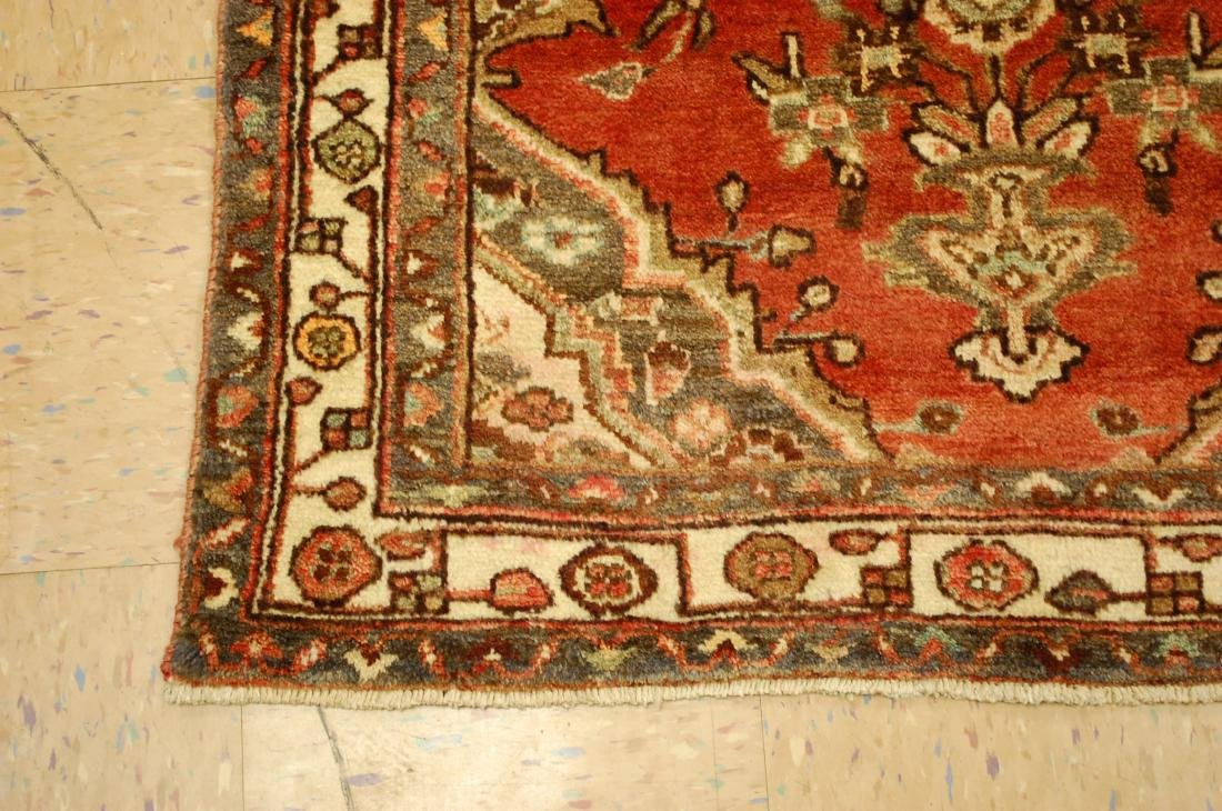 Antique Detailed Design Persian Malayer Rug 3.4x10.4 - 3