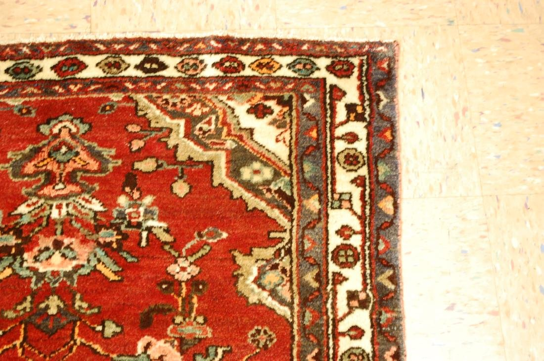 Antique Detailed Design Persian Malayer Rug 3.4x10.4 - 5