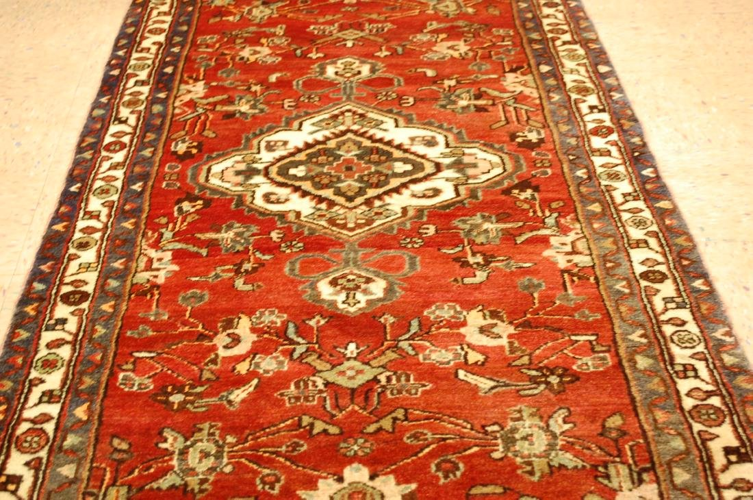Antique Detailed Design Persian Malayer Rug 3.4x10.4 - 6