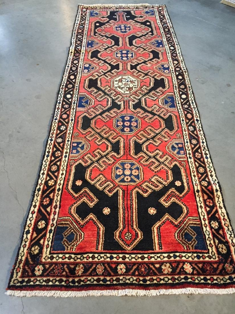 Authentic Vintage Persian Runner 3.3x9.8