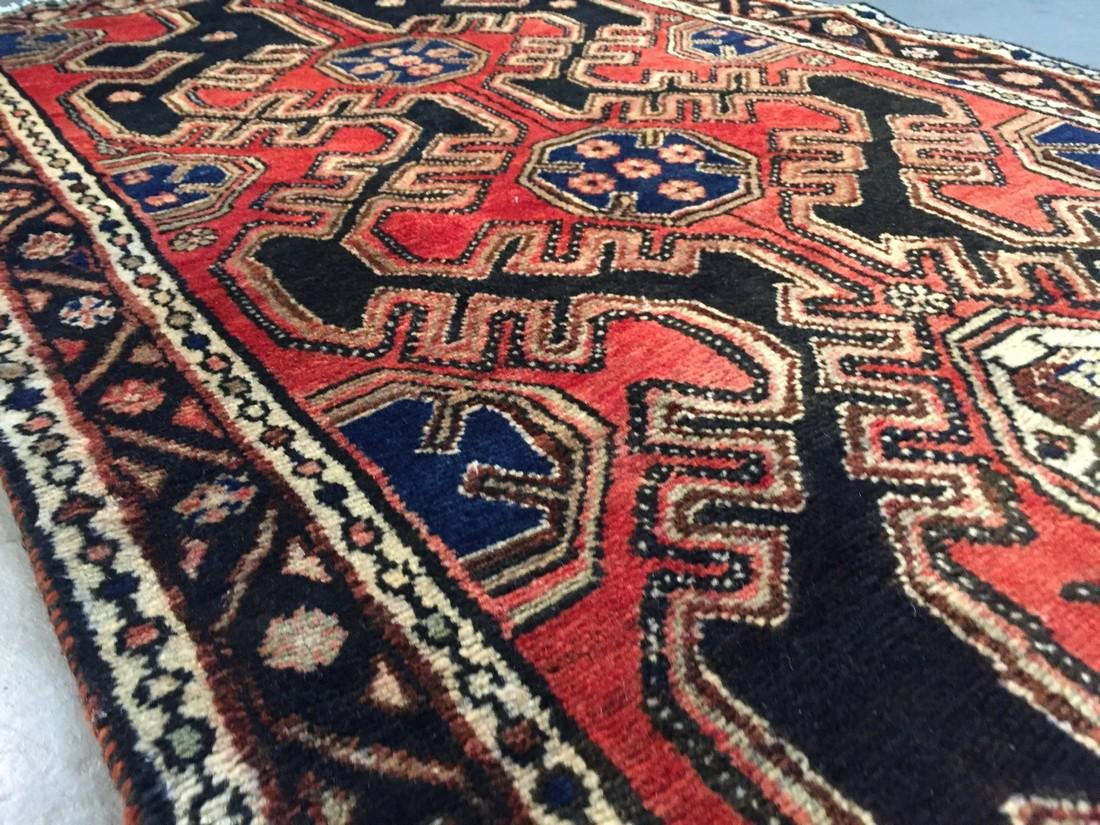 Authentic Vintage Persian Runner 3.3x9.8 - 2